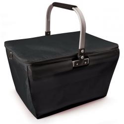 Kosz piknikowy zakupowy z izolacją, czarny - IRIS