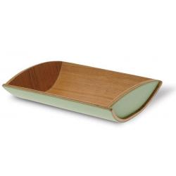 Gondola - taca na pieczywo dąb/zieleń -  LEGNOART