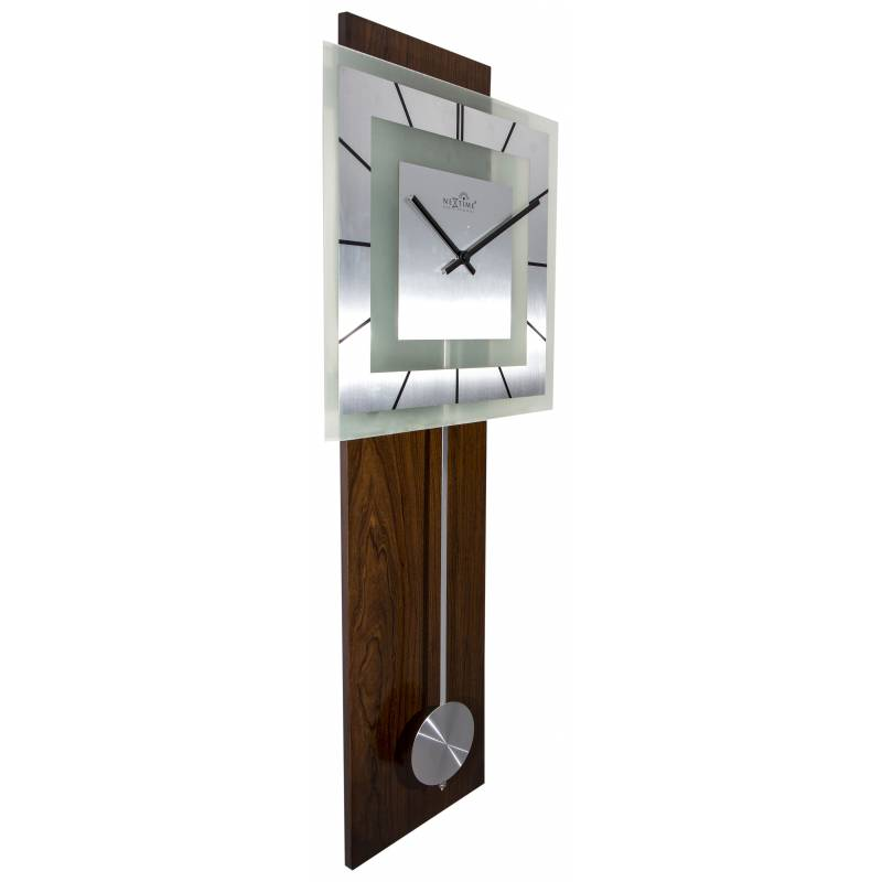 Zegar ścienny Z Wahadłem Retro Pendulum Square Radio Controlled 80 Cm Nextime