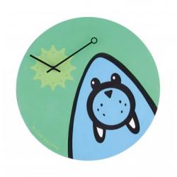 Zegar dziecięcy Wizky Walrus - NEXTIME - zielony