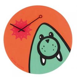 Zegar dziecięcy Wizky Walrus - NEXTIME - pomarańczowy