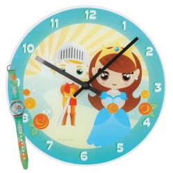 Zegar dziecięcy Knight & Princess + zegarek na rękę - NEXTIME