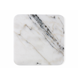 Marmurowa deska do serwowania 30 x 30 cm - jasna - Nuance