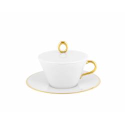 Filiżanka do herbaty z pokrywką - GLAMOUR GOLD
