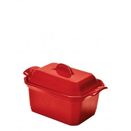 Naczynie do terriny lub pasztetu z praską - czerwone - Emile Henry