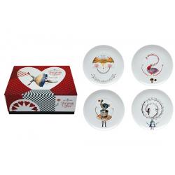 Zestaw porcelanowy - talerze deserowe TEA WITH ALICE - VISTA ALEGRE