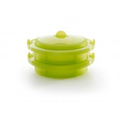 Zestaw do gotowania na parze - zielony - Lekue