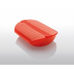 Naczynie żaroodporne z wkładką średnie - czerwone - Lekue