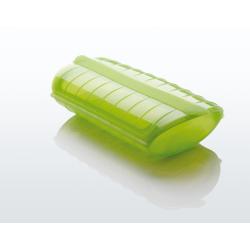 Naczynie żaroodporne z tacą, małe - zielone - Lekue