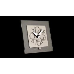 Zegar biurkowy Metropolis  116 MS (Stal) - Incantesimo Design