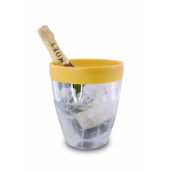 Wiaderko do lodu z obręczą silikonową (żółte) - PULLTEX