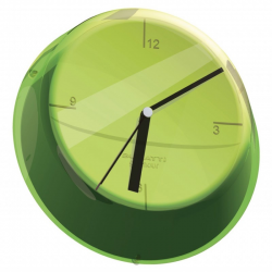 Zegar ścienny Glamour verde/zielony - BUGATTI