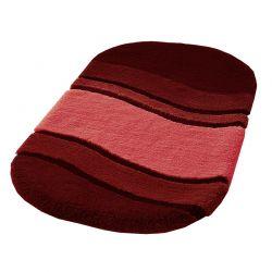 Dywanik łazienkowy 60x100 cm Siesta czerwony - Kleine Wolke