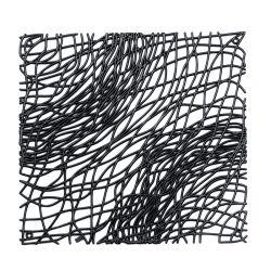 Panel dekoracyjny Silk czarny 4 szt. - Koziol