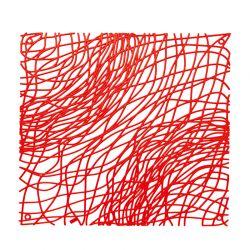 Panel dekoracyjny Silk czerwony 4 szt. - Koziol