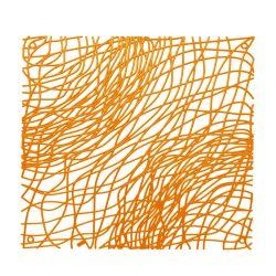 Panel dekoracyjny Silk pomarańczowy 4 szt. - Koziol