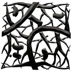 Panel dekoracyjny [pi:p] czarny 4 szt. - KOZIOL