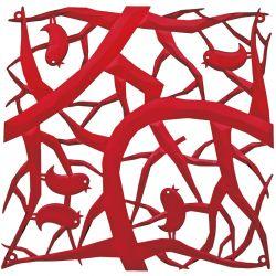 Panel dekoracyjny [pi:p] czerwony 4 szt. - KOZIOL
