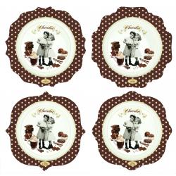Zestaw talerzy z porcelany 4 szt. 1129 CHOV - NUOVA R2S