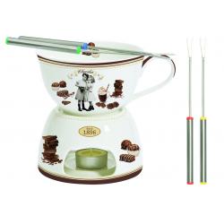 Zestaw fondue do czekolady z 4 widelczykami - NUOVA R2S