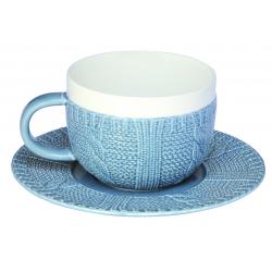 Filiżanka śniadaniowa z talerzykiem 010 BLUE - NUOVA R2S