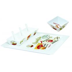 Taca porcelanowa z miseczkami i łyżeczkami - NUOVA R2S