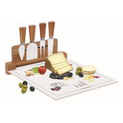 Deska szklana do serów z nożami 4 szt. 848 KIBF - Nuova R2S
