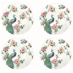 Zestaw 4 talerzy deserowych z porcelany 976 PEAC - Nuova R2S