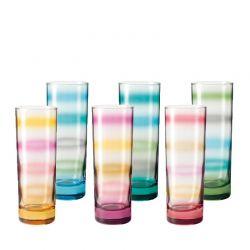 Zestaw sześciu szklanek RAINBOW - Leonardo