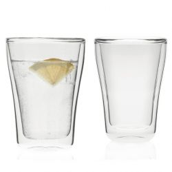 Zestaw szklanek 2szt z podw. ścianką DUO 250ml - Leonardo