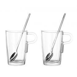 LO-Zestaw szklanek Latte Macchiato z łyżeczkami
