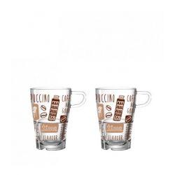 Zestaw 2 szklanek do latte macchiato, La Vita - Leonardo