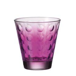Szklanka niska OPTIC fioletowa 220 ml - Leonardo