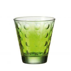 Szklanka niska OPTIC zielona 220 ml - Leonardo
