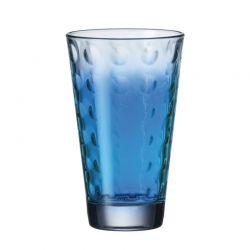 Szklanka wysoka OPTIC niebieska 300 ml - Leonardo