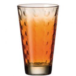 Szklanka wysoka OPTIC pomarańczowa 300 ml - Leonardo