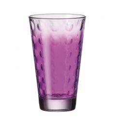 Szklanka wysoka OPTIC fioletowa 300 ml - Leonardo