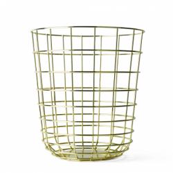 Kosz druciany Wire Bin Brass - MENU