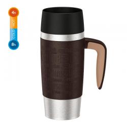 Kubek termiczny z uchwytem Travel Mug, 0,36 L, brązowy - EMSA