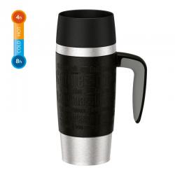 Kubek termiczny z uchwytem Travel Mug, 0,36 L, czarny - EMSA