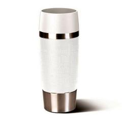 Kubek termiczny Travel Mug, 0,36 L, biały - EMSA