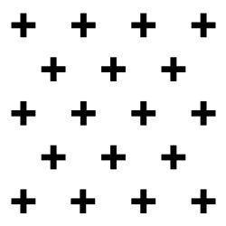 Dekoracja ścienna 20 szt. PLUS GEOMETRIC czarna DS-711315