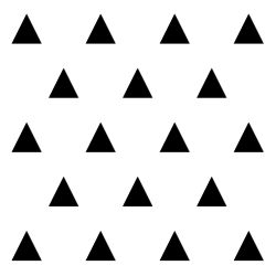 Dekoracja ścienna 20 szt. TRÓJKĄT GEOMETRIC czarna - DekoSign