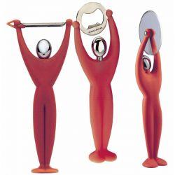 Zestaw przyborów kuchennych GYM, czerwony - BUGATTI