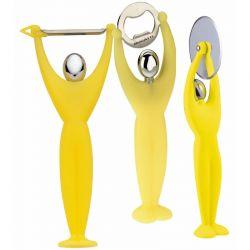 Zestaw przyborów kuchennych GYM, żółty - BUGATTI