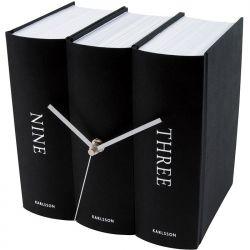 Zegar stołowy Book Black Paper - KARLSSON