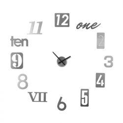 Zegar ścienny NUMBRA, srebrny - UMBRA