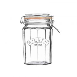 Słoik 0,95l, Facetted Clip Top Jar - KILNER