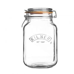 Słoik 1,5l, Square Clip Top Jar - KILNER