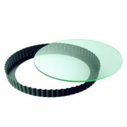 Forma do tarty ze szklanym dnem Crystal Baking 24 cm - KAISER